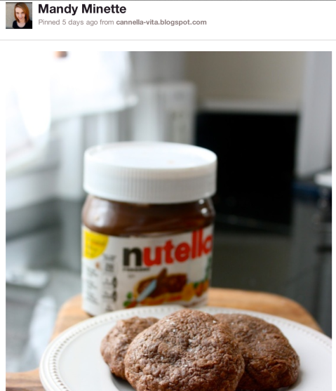 Nutella Cookies - Pin